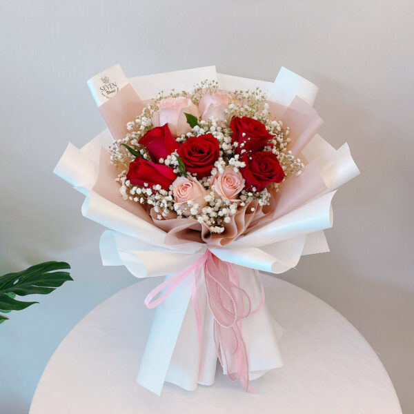 seven florist eternal love rose bouquet