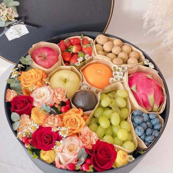 seven florist flower fruits gift box 01a